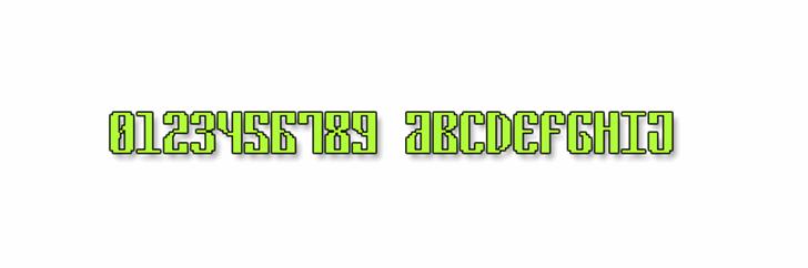 Cyrillic Pixel-7 Font design graphic