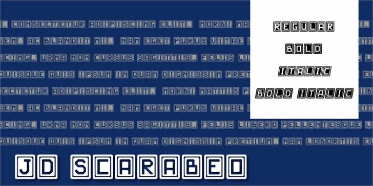JD Scarabeo Font text screenshot