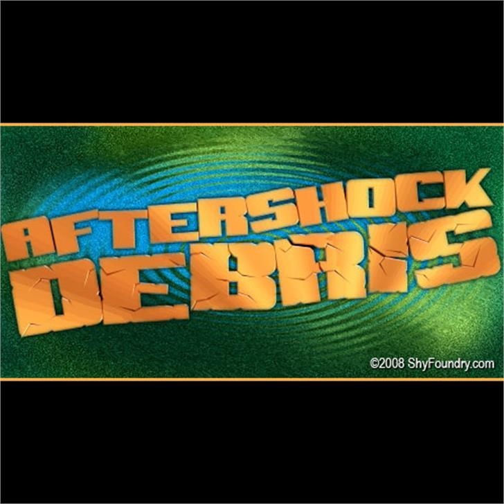 SF Aftershock Debris font by ShyFoundry