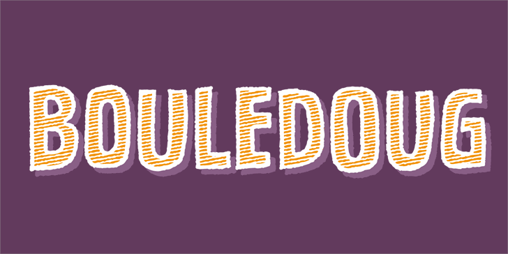 Bouledoug DEMO Font design graphic