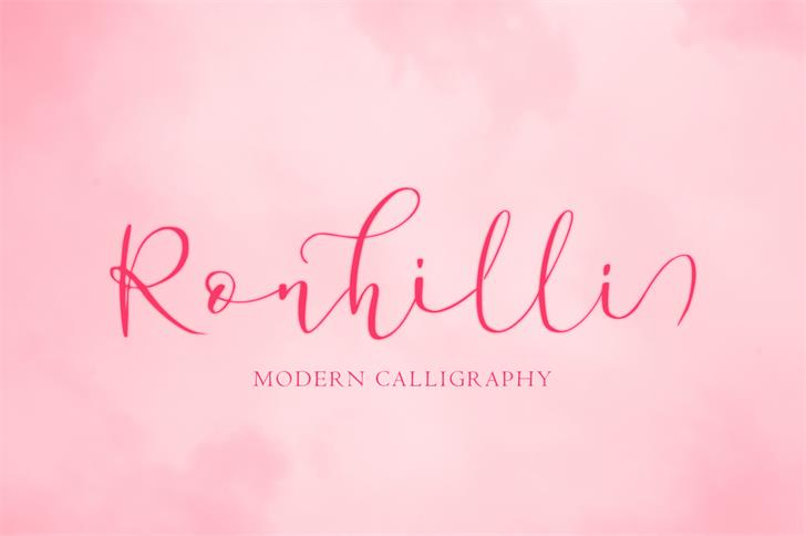 Ronhilli Font poster