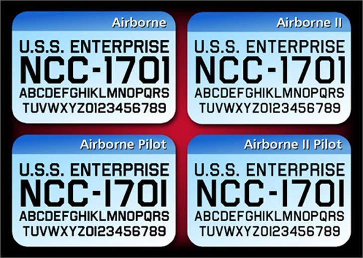 Airborne Font screenshot poster