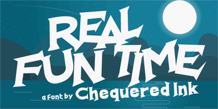 Real Fun Time Font poster design