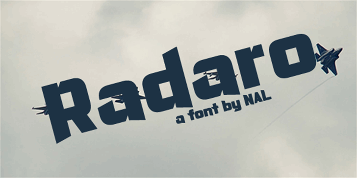 Radaro Font logo sign