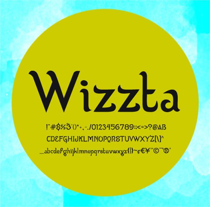 Wizzta Font screenshot design