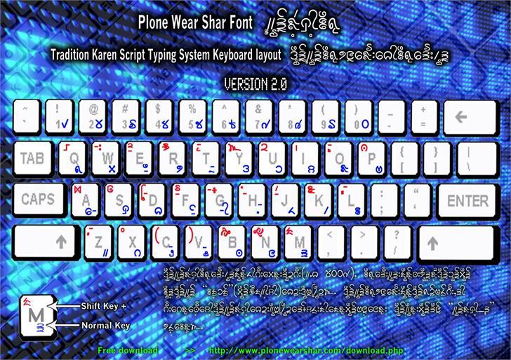 Plone Ware Shar_Mla Font computer keyboard