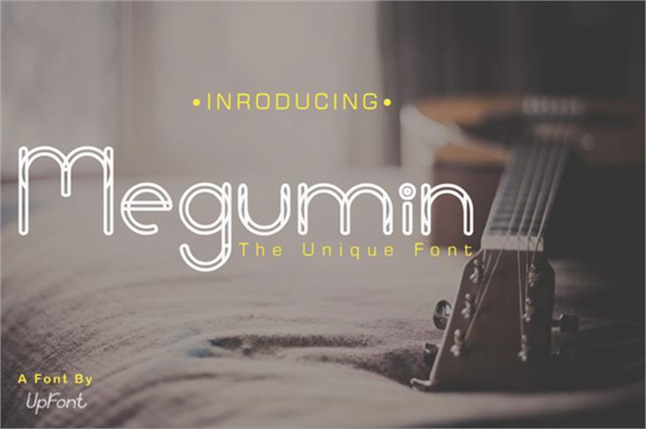 Megumin Font poster