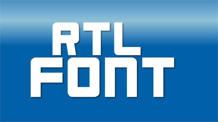 RTL Font screenshot design