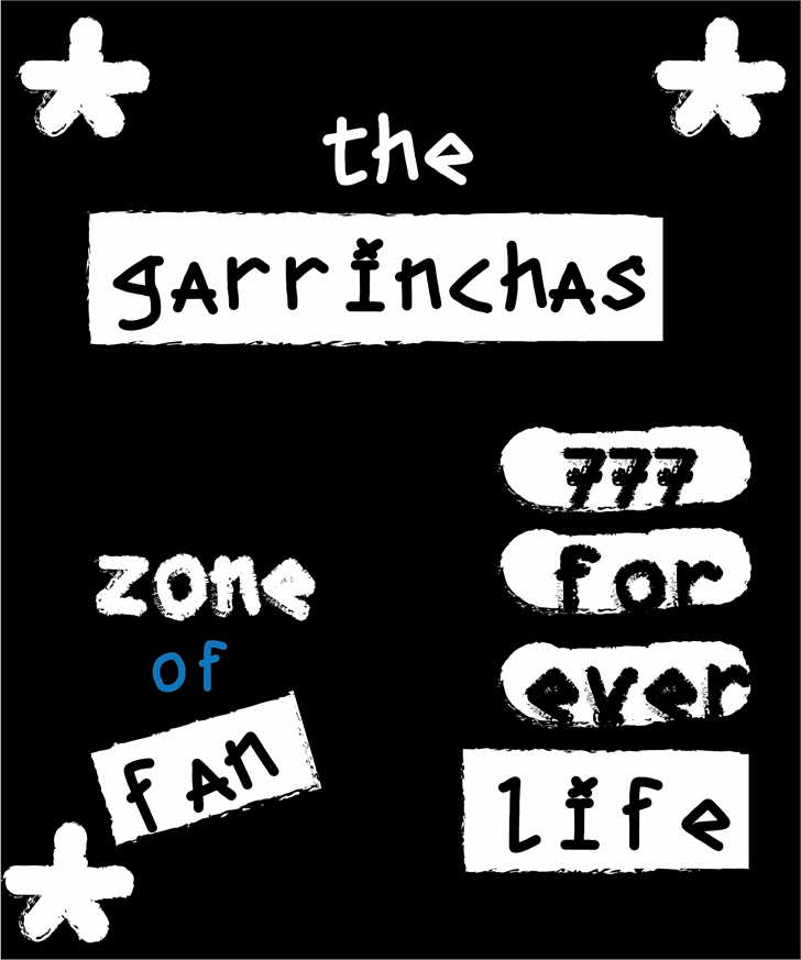 the garrinchas Font design typography