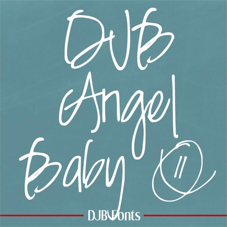 DJB Angel Baby font by Darcy Baldwin Fonts