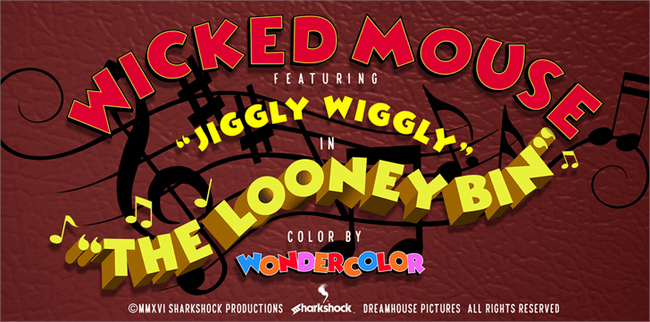 Wicked Mouse Font cartoon poster