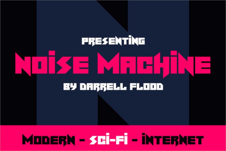 Noise Machine Font design screenshot