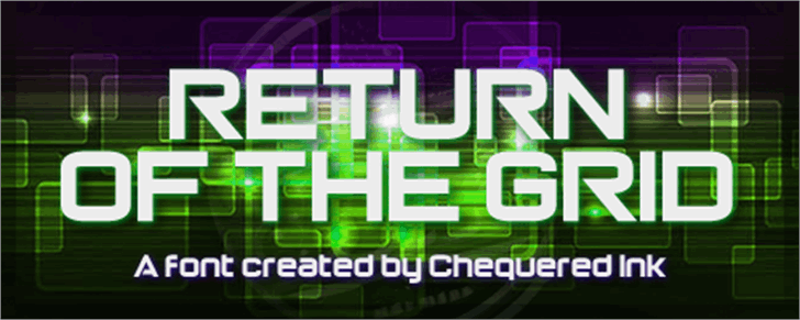 Return of the Grid font by Chequered Ink