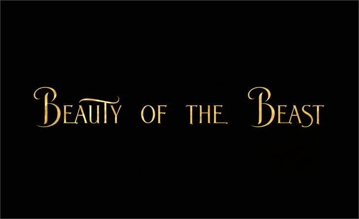 BeautyoftheBeast Font design screenshot