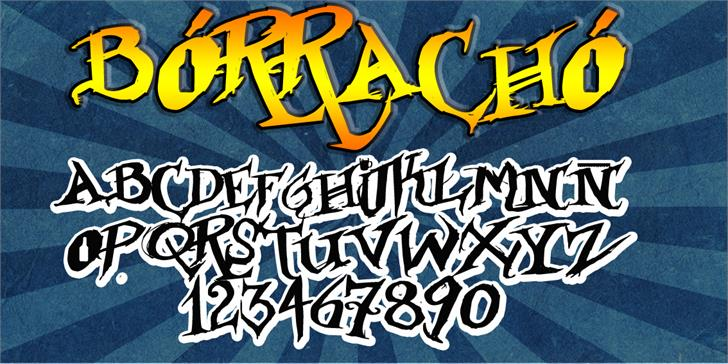 Borracho Font poster container