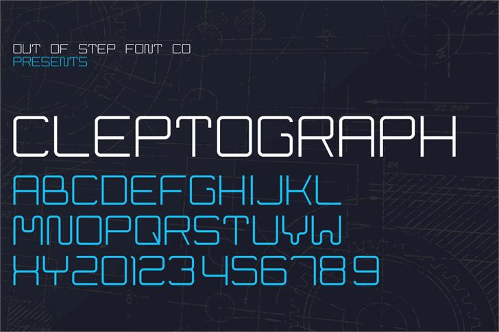Cleptograph Font screenshot text