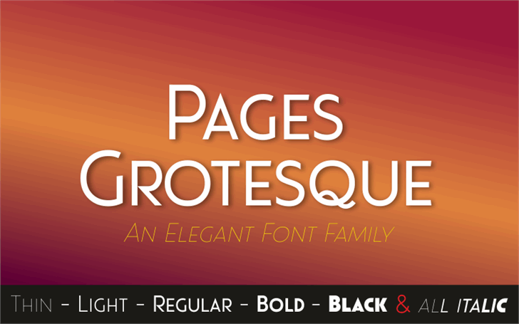 Pages Grotesque Demo Font text