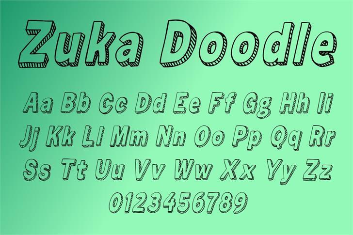 Zuka Doodle Font poster