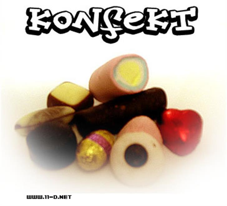 Konfekt Font food candy