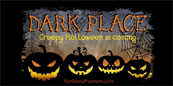 DARK PLACE_DEMO Font halloween cartoon