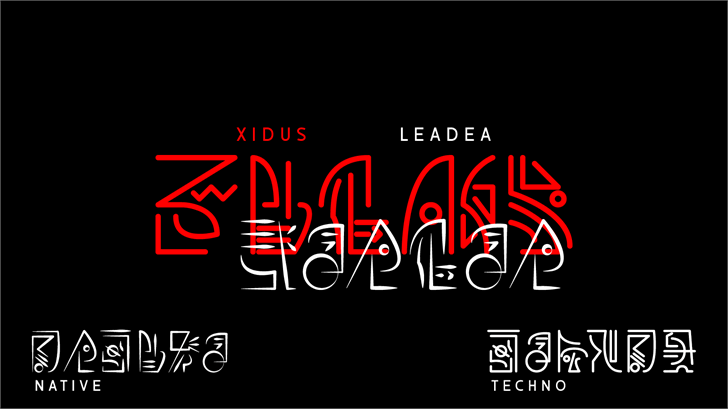 Xidus LeaDea Font screenshot