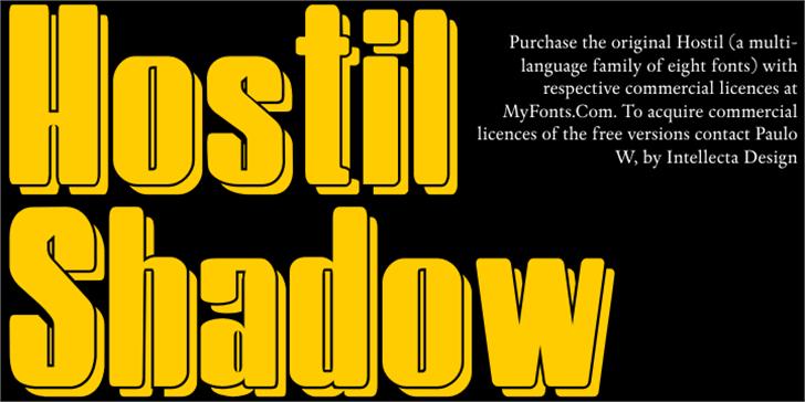 HostilShadow Font design poster