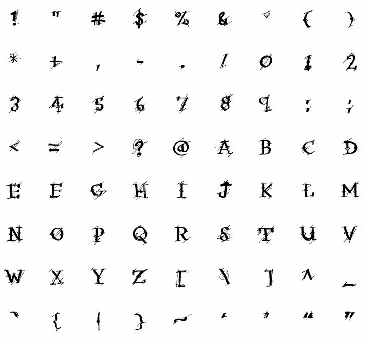 Irregular Ledger Font poster