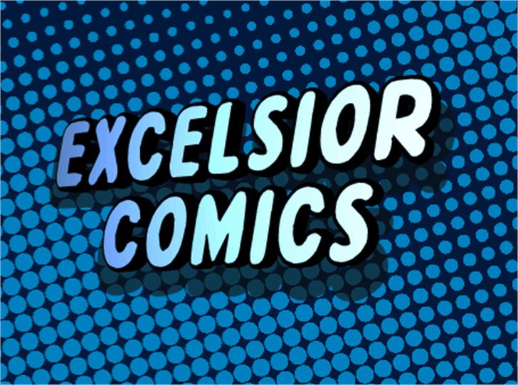Excelsior Comics Font screenshot design