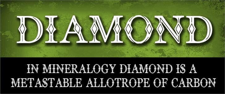 CF Diamond Font text poster