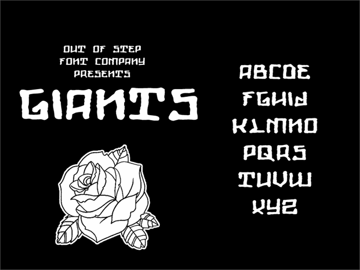 Giants Font design text