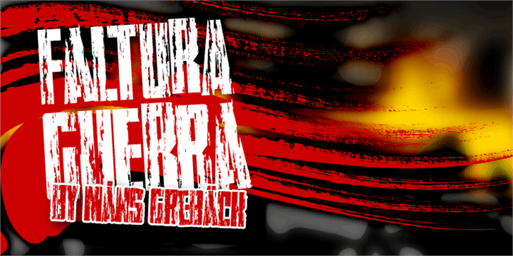 Faltura Guerra font by Måns Grebäck