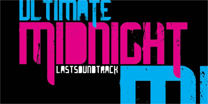 ultimate MIDNIGHT font by Last Soundtrack