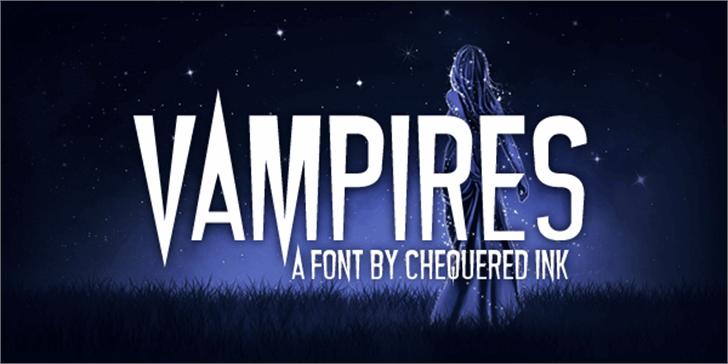 Vampires Font poster outdoor