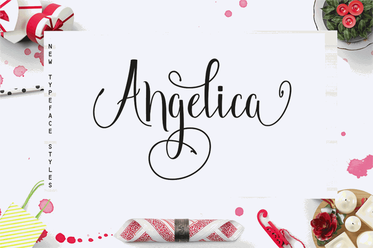 Angelica Free Font handwriting design