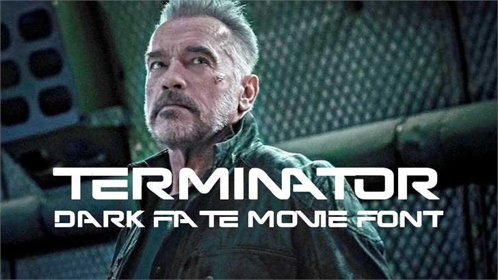 Terminator Dark Fate Font screenshot