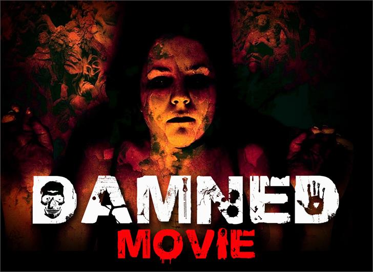 DAMNED Font poster book