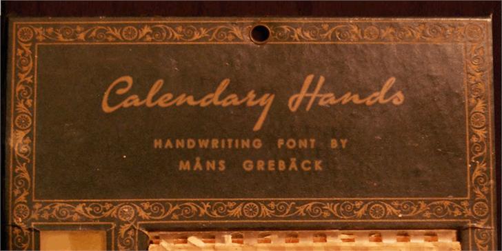Calendary Hands PERSONAL USE DE Font handwriting indoor