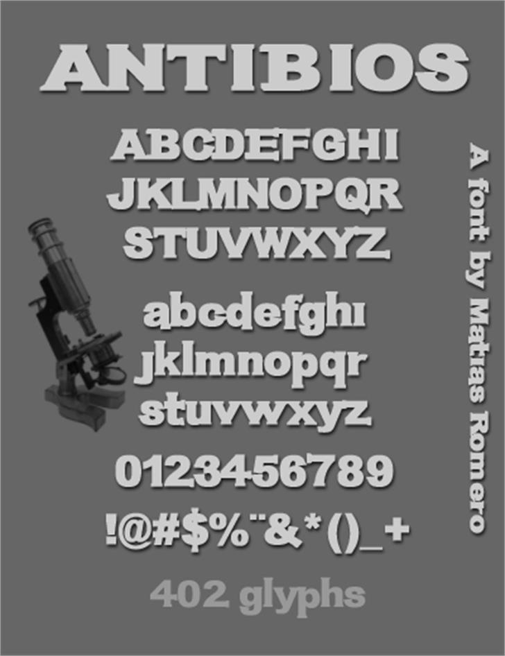 Antibios font by Matias Romero