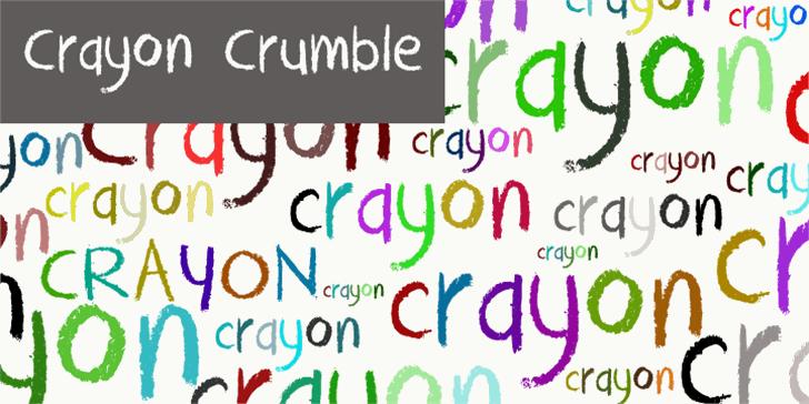 DK Crayon Crumble Font design text