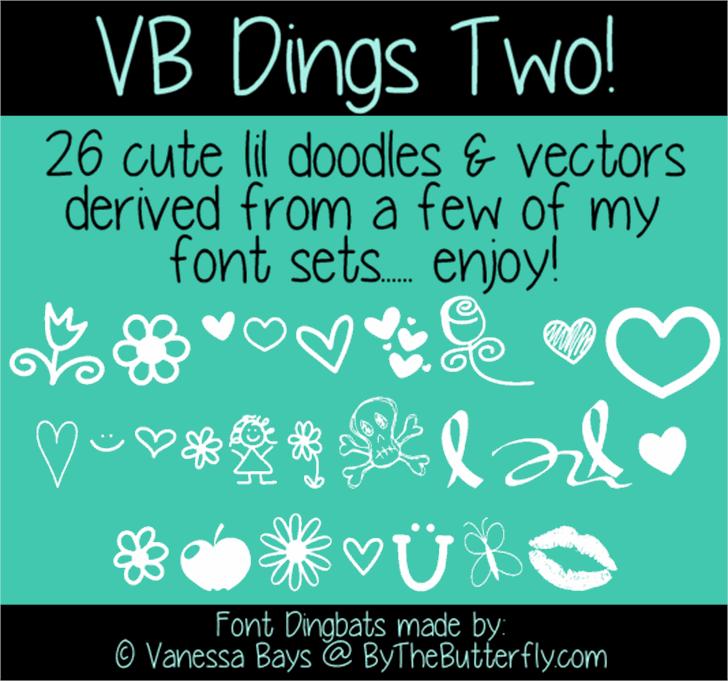 VBdingsTwo font by ByTheButterfly