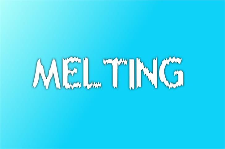 Melting Font poster