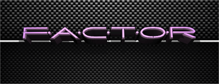 Factor Font screenshot indoor