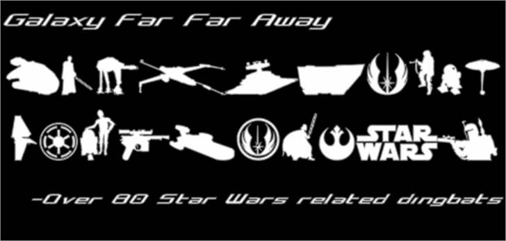 Galaxy Far Far Away Font screenshot poster