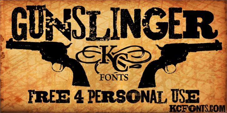 Gunslinger font by KC Fonts