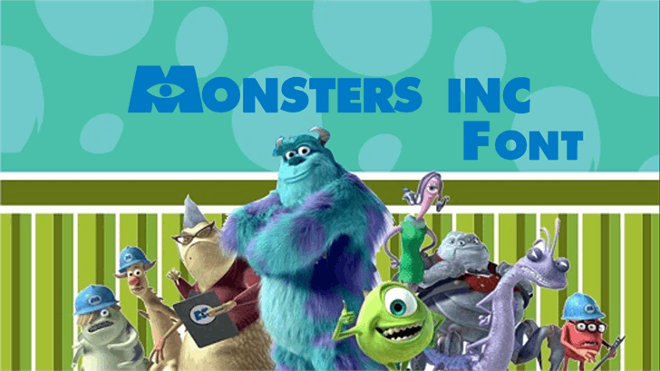 Monsters Inc font by FontStudio LAB