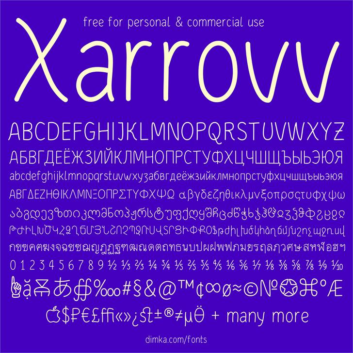 Xarrovv Font screenshot text