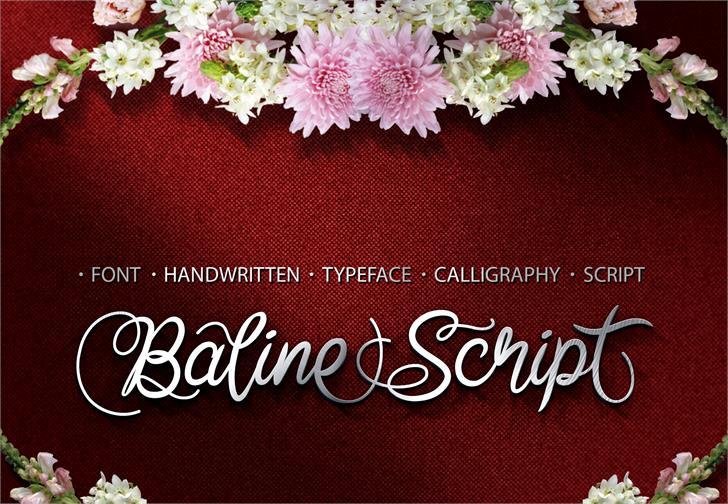 Baline Script font by cove703