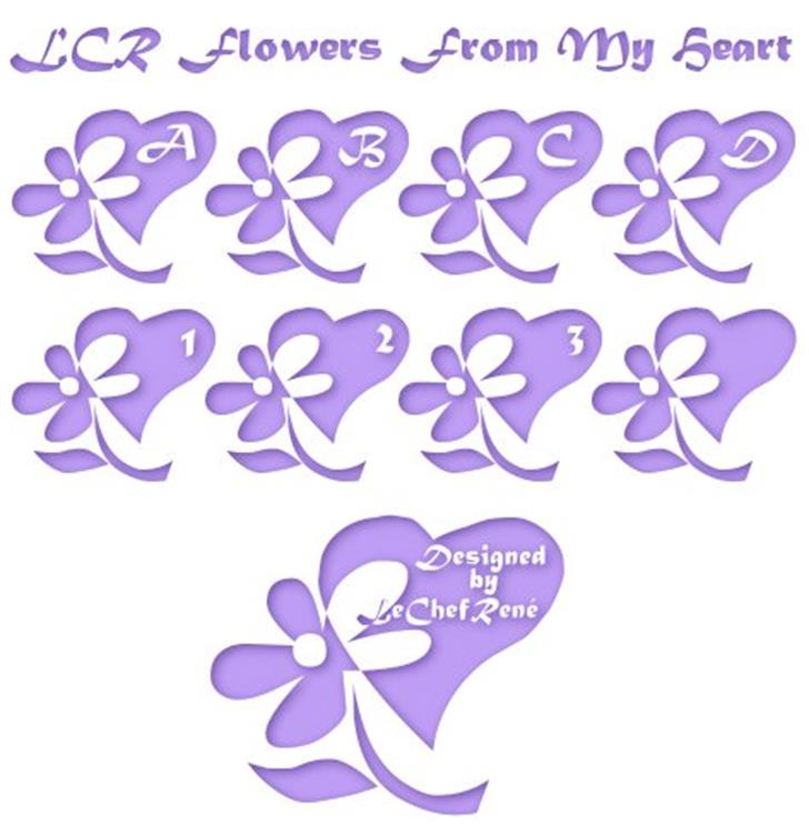 LCR Flowers From My Heart Font text