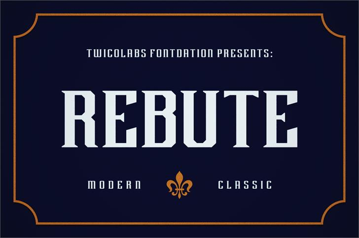 Rebute Font screenshot poster