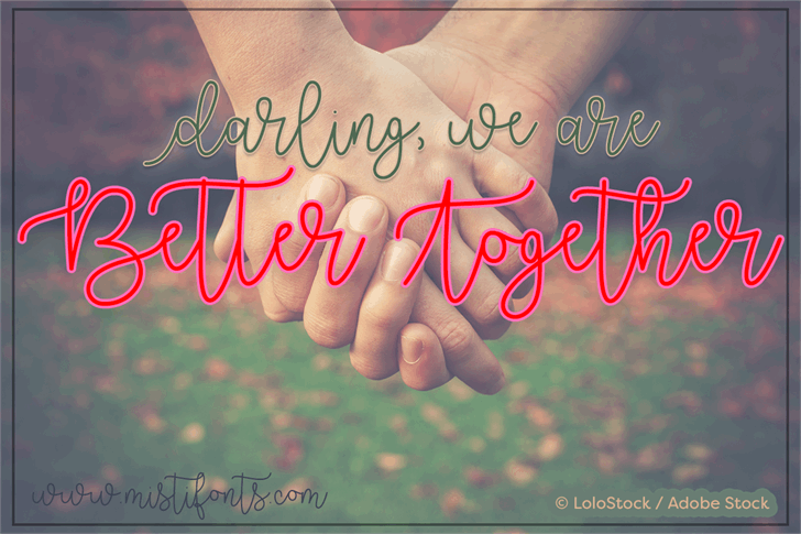 Better Together Demo font by Misti's Fonts